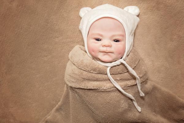 czapka miś dla noworodka