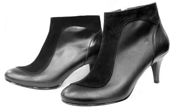 buty za kostkę damskie skórzane